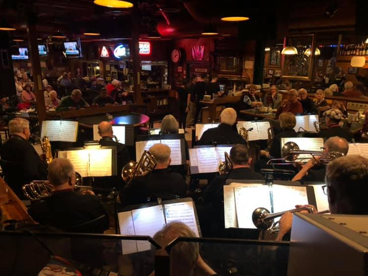 The view from the trumpet row at Flannigan's